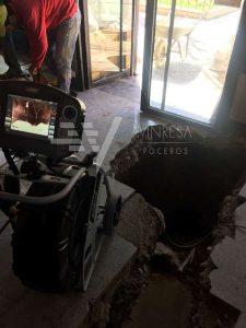 Prospección ITE con cámara de vídeo CCTV Vinresa Poceros Madrid